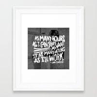 jon contino Framed Art Prints featuring Jon Contino on Work Ethic by Josh LaFayette