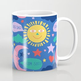 Swedish Folk Celestial in Country Blue Coffee Mug