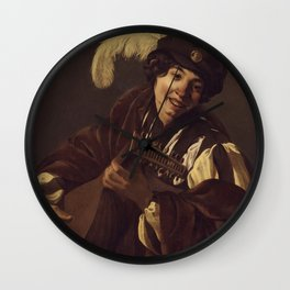 "Hendrick Terbrugghen ""A Boy Playing the Lute"" Wall Clock"