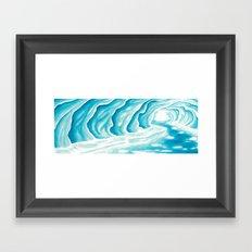 Ice Cavern Framed Art Print