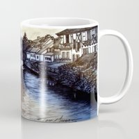 irish Mugs featuring Irish Village by Tom Gregory Artwork