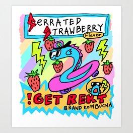 Serrated Strawberry Flavor Kombucha Art Print
