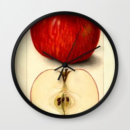 Vintage Botanical Apple Wall Clock