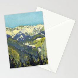 Koloman Moser Landscape of Semmering Stationery Cards