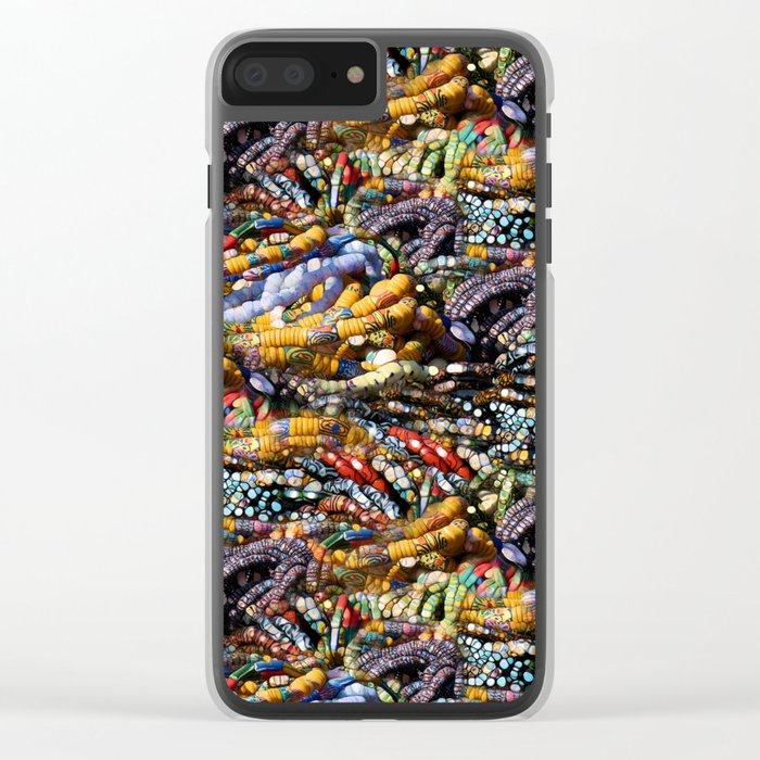 gems, beads, prayers Clear iPhone Case