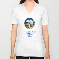 caleb troy V-neck T-shirts featuring The Adventures Of Troy I by Louisa Catharine Photography