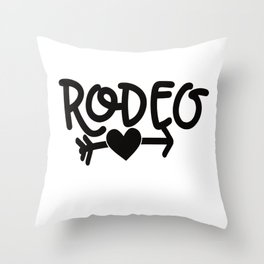 Rodeo Bulle Throw Pillow