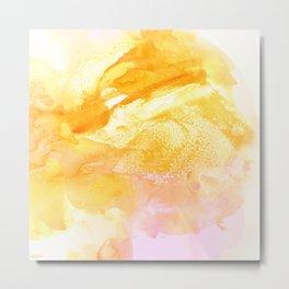 Pollen Watercolor Metal Print