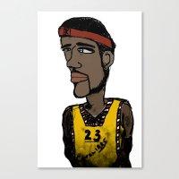 basketball Canvas Prints featuring Basketball  by JBLITTLEMONSTERS
