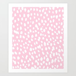 Dalmation in pink and white Art Print