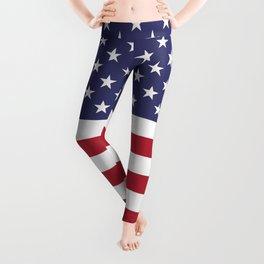 American Flag United States USA Patriotic Leggings
