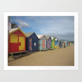 Brighton Beach Boxes Australia Art Print