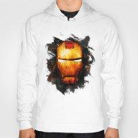 iron man Hoodies featuring Iron Man by Sirenphotos