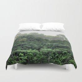 Tropical Foggy Forest Duvet Cover