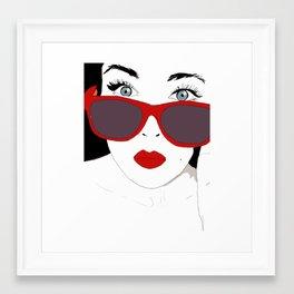 Close Up Framed Art Print