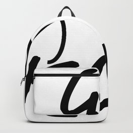 Go Vegan leaf black Backpack