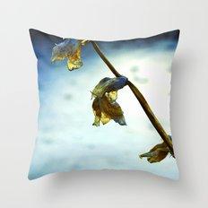 Frozen Flowers Throw Pillow