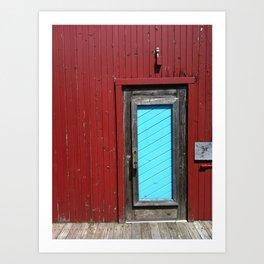 Amish Restaurant Barn Door Art Print