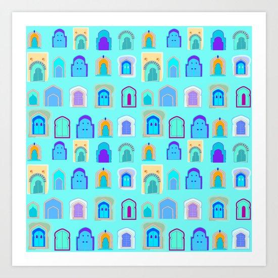 Moroccan Doors Art Print