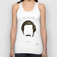anchorman Tank Tops featuring Ron Burgundy: Anchorman by BC Arts