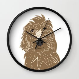 A doodle of a Golden Doodle Wall Clock