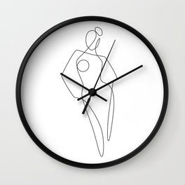Continuous Line Female Wall Clock