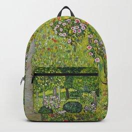 """Gustav Klimt """"Orchard with Roses (Obstgarten mit Rosen)"""" Backpack"""