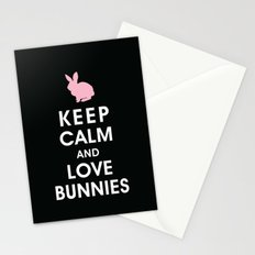 Keep Calm and Love Bunnies Stationery Cards