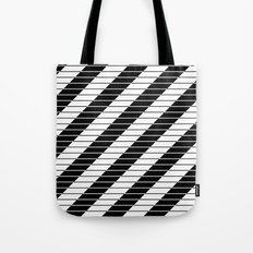 Simply Black And White (Abstract, geometric design) Tote Bag