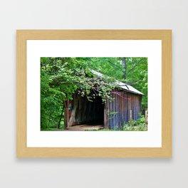 Bunker Hill Covered Bridge Framed Art Print