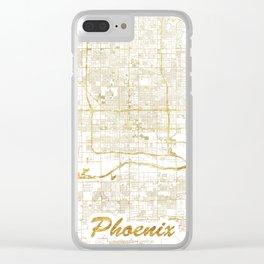 Phoenix Map Gold Clear iPhone Case