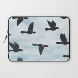 red-winged blackbirds and blue sky Laptop Sleeve