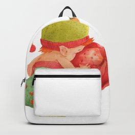 Elf's Factory Stories. Elf Baby Looks in The Glass Bauble Backpack