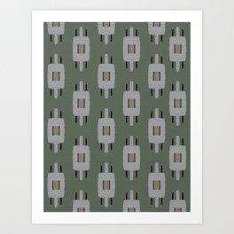 TAMAS DUSTY GREEN Art Print