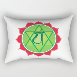 Anahata Heart Green Chakra Rectangular Pillow