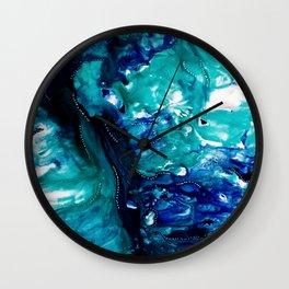 Indigo Ocean Wall Clock