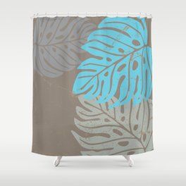 Hawaiian leaves pattern N0 2, Art Print collection, illustration original pop art graphic print Shower Curtain