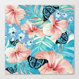Tropical Spring Aqua Canvas Print