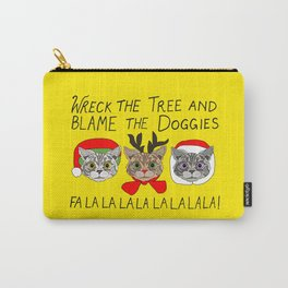 Holiday Cat Brats Carry-All Pouch