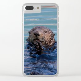 Otter in Water Clear iPhone Case