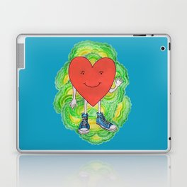A Heart With Sneakers On Laptop & iPad Skin