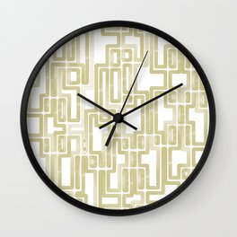 Labyrinth Golden lines Wall Clock