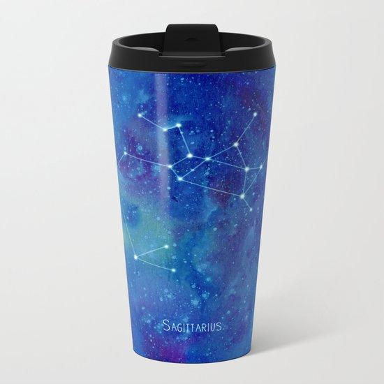 Constellation Sagittarius  Metal Travel Mug