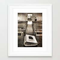 bible Framed Art Prints featuring Bible Print by Gia Jury