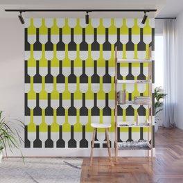 Geometric Pattern 253 (yellow and black bottles) Wall Mural
