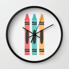 #94 Crayon Wall Clock