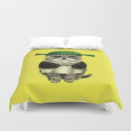 Shreky Cat Duvet Cover