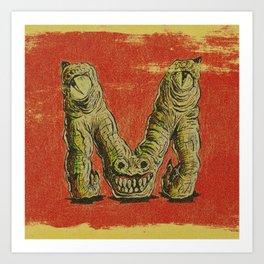 Monster M Art Print