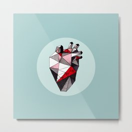 Minty Bubble Heart vol. 2 Metal Print