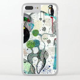"""Toucan and penguins"" Clear iPhone Case"